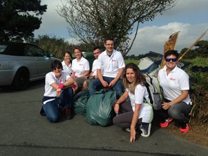 Guernsey employees take part in beach clean