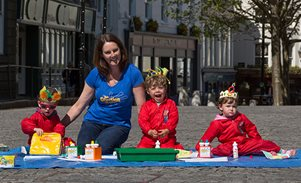 Kids can get creative in Market Square this Liberation Day