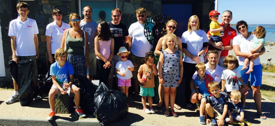 FCG Guernsey employees undertake third beach clean